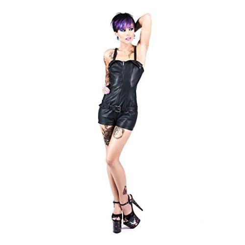 6275bbc4bea Tripp Women s Faux Vegi Leather Romper Gothic Jumpsuit  4Dbyt0908999 ...