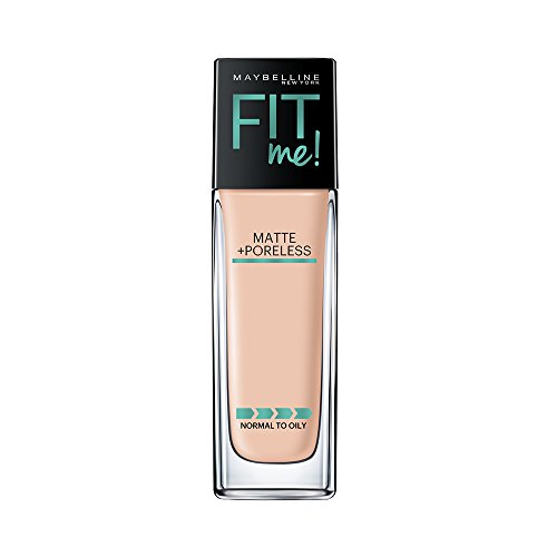 Maybelline Fit Me Matte + Poreless Liquid Foundation Makeup, Ivory, 1 fl. oz. Oil-Free Foundation