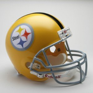 Pittsburgh Throwback Steelers Helmet (Riddell PITTSBURGH STEELERS 1962 NFL Full Size REPLICA Throwback Football Helmet)