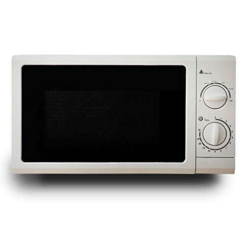 AI P70D20N1P-G5(W0), mechanical household turntable microwave oven 20L, knob operation, white, ft, 600-900W, stainless steel, 360° stereo heating