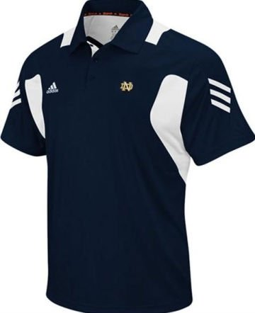 Notre Dame Fighting Irish Large Classic Performance Scorch Polo Shirt Navy Blue Adult Size Large - New with ()