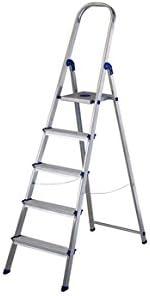 Kylate M282262 - Escalera aluminio peldaño ancho nor059 3 peldaños: Amazon.es: Bricolaje y herramientas