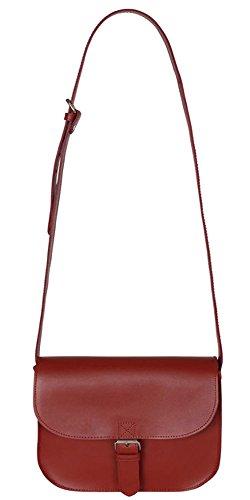 Sterling & Pelle, Borsa a secchiello donna rosso Red