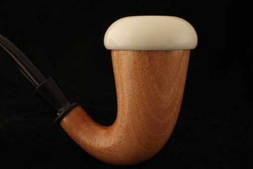 Meerschaum Pipe - Calabash - Sherlock Holmes Pipe - Hand Made From the African Mahogany Wood - Meerschaum Insert Bowl - Smoking Tobacco Pipe - Large Size - New!