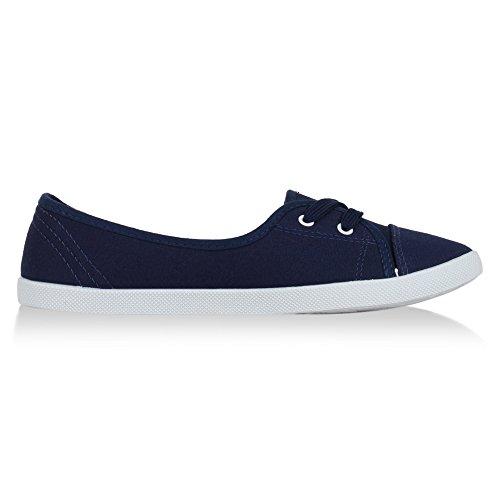 Schnürer Blu Slipper Damen sportlich Halbschuhe Dunkelblau best Sneaker Ballerinas boots Nuovo zqx1IOxwa7