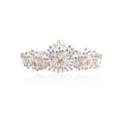 YiLuFanHua MJW&G Femme Alliage Imitation de Perle Casque-Mariage Occasion spéciale Tiare 1 Pièce