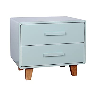 Porthos Home Juniper Mid-Century Nightstand with Two Sliding Drawers, Made of Solid Wood - [PRACTICAL BEDSIDE TABLE WITH 2 DRAWERS] this Porthos Home nightstand lets you put a lamp on it while its two sliding drawers are great for storing knick-knack that you'd often use, such as books, spectacles, watches, tissues and medicine, among others [ADORABLE, SPACE-SAVING BEDSIDE TABLES IN MID-CENTURY DESIGN] sporting a sleek, space-saving design that's typical of mid-century furniture pieces, this small nightstand is a charming decorative piece that offers the much-needed storage space [NIGHTSTANDS THAT ARE CRAFTED FROM DURABLE SOLID WOOD] crafted from solid wood that offers long-lasting durability, this wood nightstand ushers in quiet, contemporary flair into the bedroom - bedroom-furniture, nightstands, bedroom - 319JttZGZcL. SS400  -