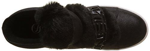Buffalo Damen 16t44-3 Fabric Shiny Hohe Sneaker Schwarz (Black 01)