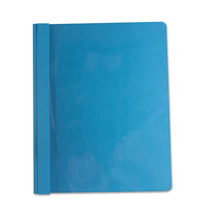 Report Cover, Tang Clip, Letter, 1/2'' Capacity, Clear/Blue, 25/Box, Total 125 EA, Sold as 1 Carton