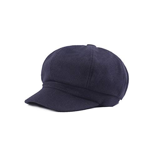 Fashion Women's Woolen Octagonal Cap Wide Brim Beret, used for sale  Delivered anywhere in Canada