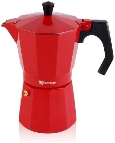 VITRINOR Cafetera Italiana, Rojo, 3 Tazas: Amazon.es: Hogar