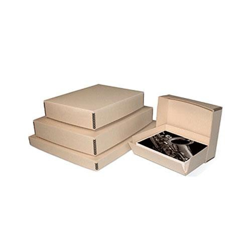Print File Tan Drop-Front Metal Edge Archival Box 16.5x20.5x3'' by Print File