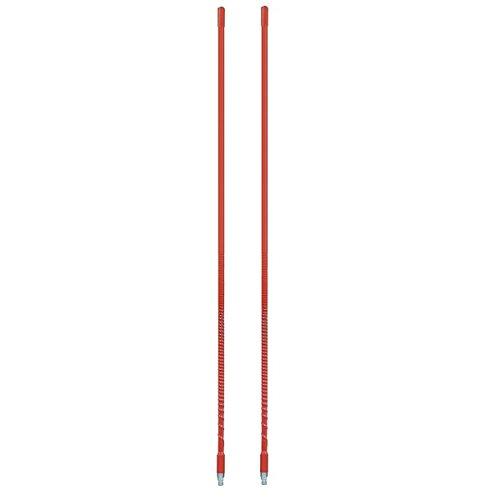 LOT OF 2 ARIES 10802 2` Foot Fiberglass 500 Watt CB Radio Antenna (RED)