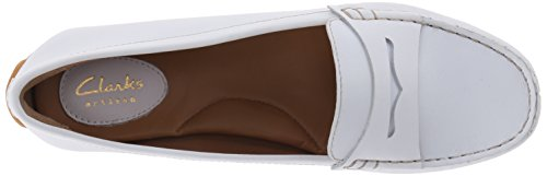 Clarks Dora Nest Mocassino Slip-on In Pelle Bianca