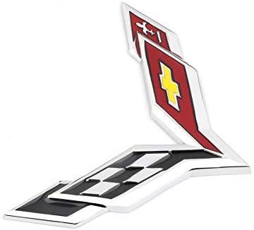 Bearfire 4pcs Universal Metal Car Tire Valve Stem Air Caps Cover for Chevrolet Corvette Accessory Tire Valve Stem Air Caps
