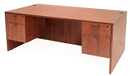 Amazon.com : Regency LDP6030 Executive Office Desk Mahogany ...