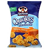 Quaker Quakes Rice Snacks, Cheddar Cheese, 6.06oz, (pack of 3)