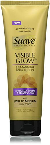 Lot of 3 Suave Professionals Visible Glow Self-Tanning Body Lotion, Fair to Medium 7.5 oz