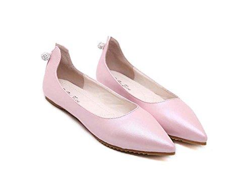 36 Bola Cristal Tamaño Size Casual Corte 34 Color Pura Mujeres Flats Eu Zapatos Ol Ballerina Bomba Puntiagudo 43 Pink Color Loafer Jelly Dulce Zapatos De wAxSzq