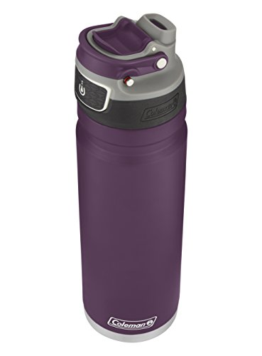Coleman FreeFlow AutoSeal Insulated Stainless Steel Water Bottle 24 Ounce