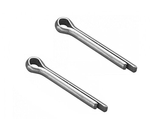 Bulk Hardware BH03497 50 x 4mm (2 inch x 5/32 inch) BZP SplitCotter Pin - Pack of 10 Bulk Hardware Limited