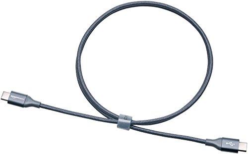 AmazonBasics Double Braided Nylon USB Type-C to Type-C 2.0 Cable | 3 feet, Dark Grey by AmazonBasics (Image #4)