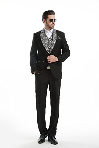 Judi Dench@ Hommes ¨¦v¨¦nement de mariage Prom Party Performance 4 pi¨¨ce tuxedo veste + pantalon + gilet + carr¨¦ de poche 1017