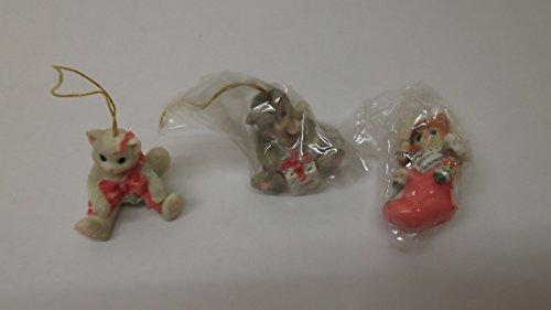 Calico Kittens Mini Hanging Ornaments