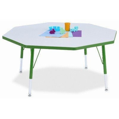 Jonti-Craft Rainbow Accents Kydz Octagon Activity Table (11-15 in. H - -