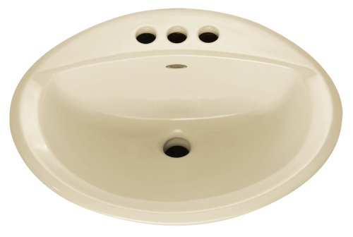 American Standard 0476.028.222 Aqualyn Self Rimming Countertop Sink with 4-Inch Centers and Tapered Edges, Linen