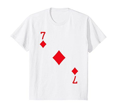 Kids Seven of Diamonds Costume T-Shirt Halloween Deck of Cards 10 (7 Diamonds Kids Shirt)