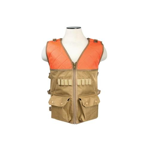 Vism Hunting Vest, Blaze Orange and Tan