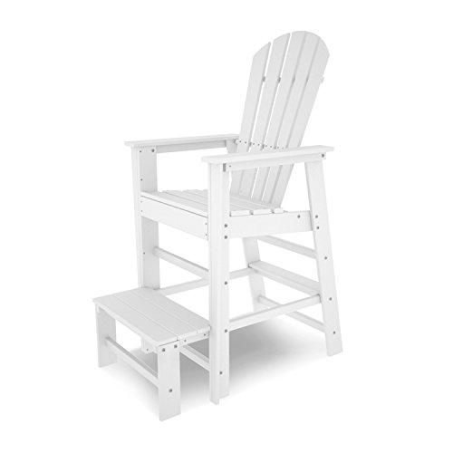 POLYWOOD SBL30WH South Beach Lifeguard Chair, White