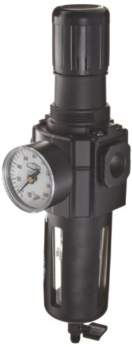 Dixon B74G-4MG Norgren Series Manual Drain Filter/Regulator with Transparent Bowl and Guard, 1/2'' Basic, 212 SCFM, 1/2'' Port Size, 5-125 PSI by Dixon Valve & Coupling