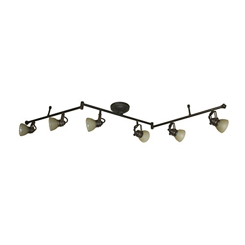 Tucana 6-Light 60-in Bronze Dimmable Fixed Track Light Kit Bronze Right Track