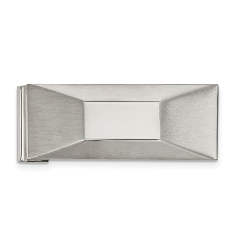 Polished Money Stainless Stainless Brushed Steel and Money Clip Steel Polished Brushed and qxT0ZU