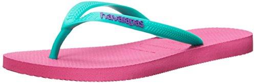 Havaianas Women's Slim Animals Flip Flop, Shocking Pink, 39/40 BR (9-10 M - Havaianas Pink