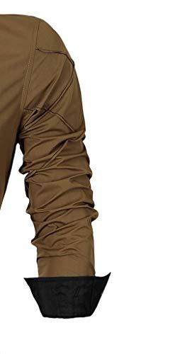 Long Jeansian Men Lunghe 2028 Moda Fashion Causal Fit khaki Maniche Uomo Camicie Slim Shirts 2028 Sleves qvqp4