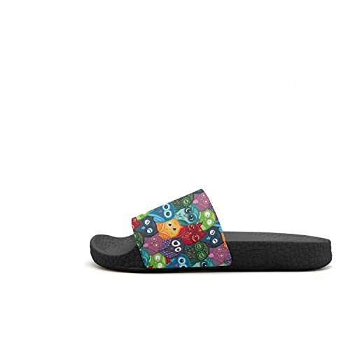 Rainbow Sandals Slip Rainbow Open Owl Toe Non House Guxefi Womens 90S Slides Owl Slipper Outdoor 90s U7gqxWB61