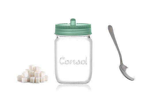 ar Set - 8oz Sugar Bowl With Spoon & Lid (1, Green) (Green Sugar Bowl Lid)