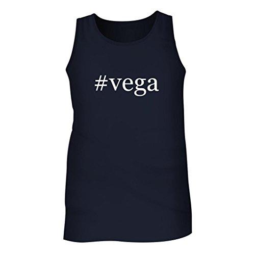 #Vega - Men's Hashtag Adult Tank Top, Navy, Medium (Las To Vegas Tickets Airline)
