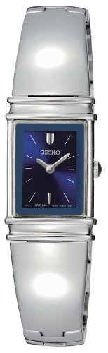 Seiko Women's SUJG09 Jewelry Silver-Tone Bangle Blue Dial Watch
