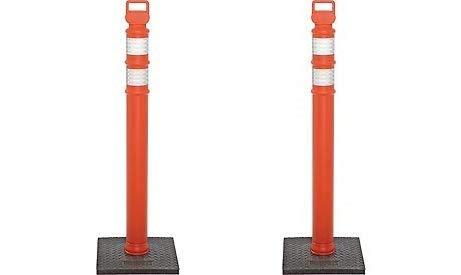 3 Hip Collars with 10 lb Base 2 Pack 03-747RBC-2 Cortina EZ Grab Delineator 45 Post Pack of 2 Orange