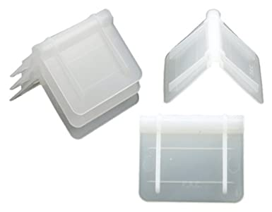 """White 1/"""" Length 1-3//8/"""" Width PAC Strapping CP-75A Plastic Edge Protector ..."""