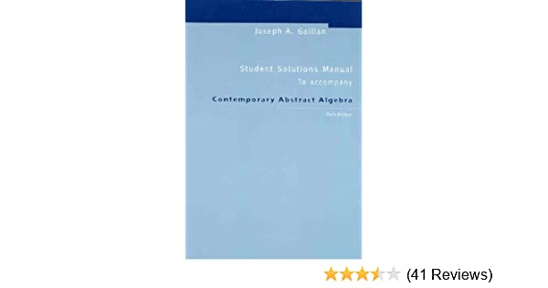 contemporary abstract algebra 9th edition solutions