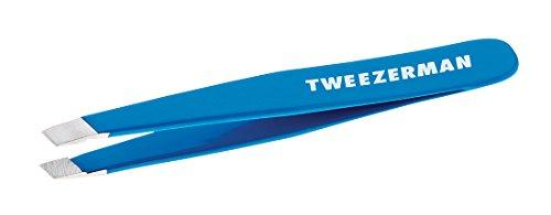 Tweezerman Mini Slant Tweezer, Bahama Blue (Mini Tweezers)