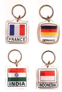 St George Ring (St. George Cross - Country Lucite Key Rings)