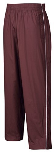 Tri-Mountain Mens 100% poly micro wind pants with mesh lining, Dark Maroon Large
