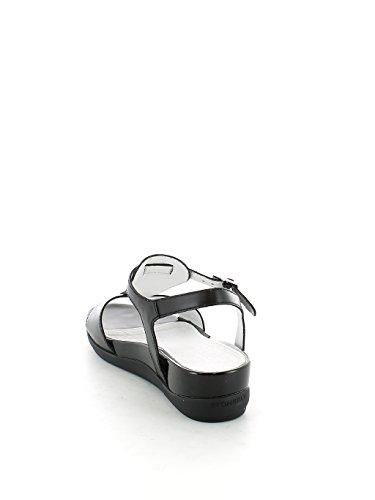 Sandalo Eve Nero con Placche Argento N. 39