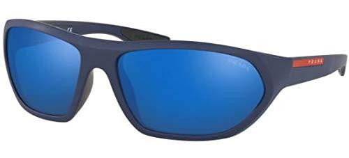 Prada ACTIVE PS18US Sunglasses MA39P1-66 -, Blue Mirror Blue ()
